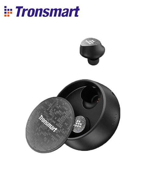Tronsmartスパンキープロイヤホン真のワイヤレスbluetooth 5.0 イヤフォン音声アシスタント、重低音、ワイヤレス充電