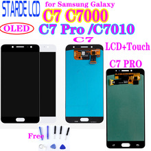 Super OLED LCD Screen for Samsung Galaxy C7 Pro C7010 LCD Display Touch Digitizer Assembly C7 C7000 LCD