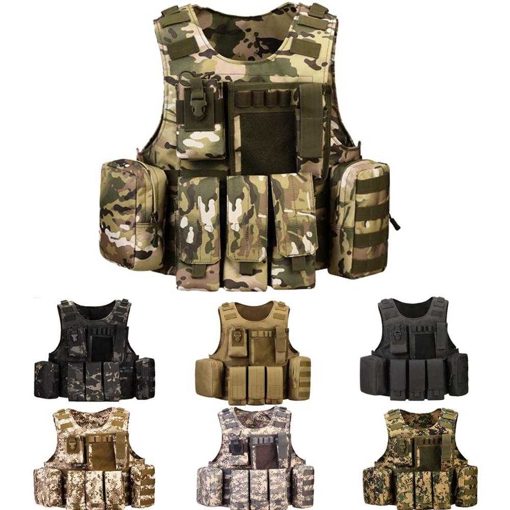Protector Plus Nylon Military Tactical Vest Black Police Plate Carrier Tactical Unloading Tactic Vest Outdoor Hunting Wargame CS