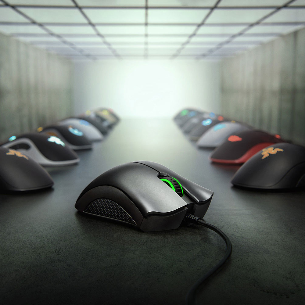 Image 4 - Original Razer DeathAdder Essential Wired Gaming Mouse Mice 6400DPI Optical Sensor 5 Professional Gaming Mouse for  PC ComputerMice   - AliExpress