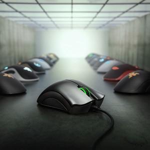 Image 3 - Originale Razer DeathAdder Essenziale Wired Gaming Mouse Mouse 6400DPI Sensore Ottico 5 Professionale Gaming Mouse per il PC Del Computer