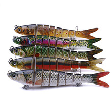 Multi Section Hard Fishing Lure 3D Fish Eyes 1PCS 14cm Crankbaits Minnow Fake Artificial Bait Suit For Fishing Carp Tackle цена и фото