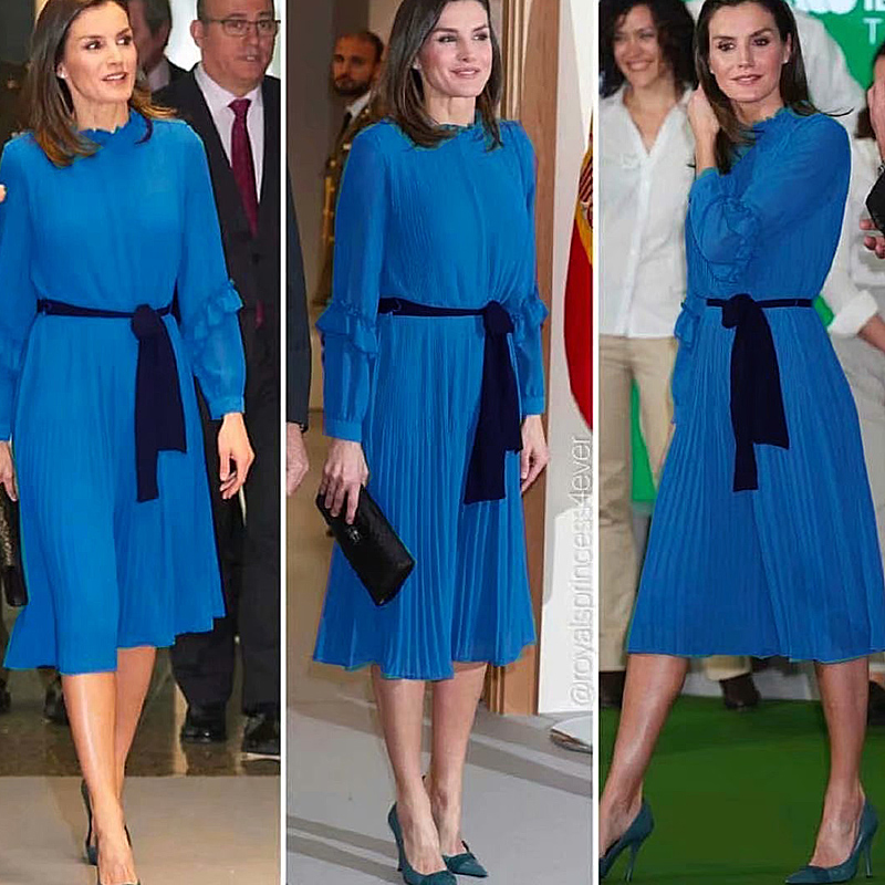 Letizia Runway Gentlewoman High Quality Spring New Women'S Party Casual Workplace Vintage Elegant Fold Streamer Fashion Dress
