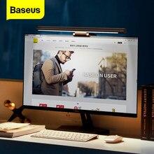 Baseus-Lámpara LED de escritorio ajustable para PC, pantalla de ordenador portátil, luz de mesa, luz de lectura con carga USB para oficina, hogar e interior