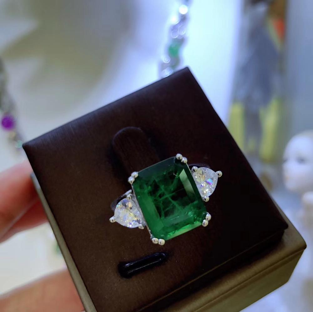 S925 argent sterling zircon cubique princesse anneau mode bijoux de luxe pour les femmes