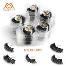 Faux cils en vison 3d, pour maquillage pour les yeux naturels, spectaculaires, 20/30/40/50/100 paires, vente en gros