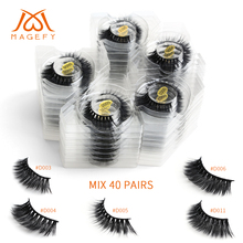 Wholesale Eyelashes 20/30/40/50/100 pairs 3d Mink Lashes Natural False Eyelashes Mink Fake Lashes Makeup Dramatic Eye Lashes