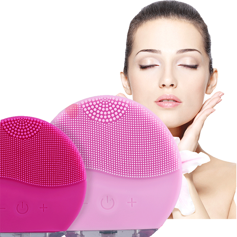 Original Electric Silicone Faces Facial Cleansing Brushs FOREOING Luna Mini 2 Sonic Vibration USB Pore Massages Skin Faces Brush