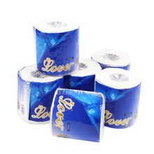 10 Rolls 3 Ply Home White Toilet Paper Family Roll Paper for Hotel Housewarming Gifts