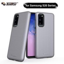 TOIKO X koruma çift katmanlı darbeye dayanıklı zırh kabuk Samsung Galaxy S20 Ultra telefon kılıfı PC TPU tampon S20 artı koruyucu kapak