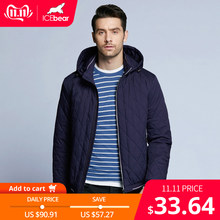 ICEbear 2019 new autumn men's cotton classic quilted design coats hat detachable fashion man jacket BMWC18032D(China)