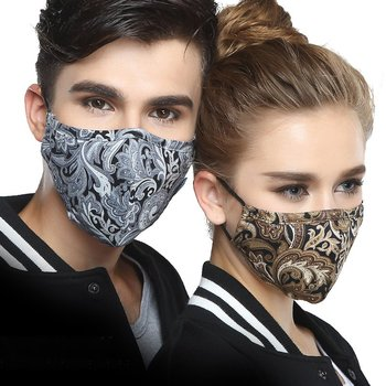 Wecan Kpop Cotton Black Mask Mouth Face Mask Anti PM2.5 dust Mask with 2pcs Activated Carbon Filter korean Mask Fabric Face Mask