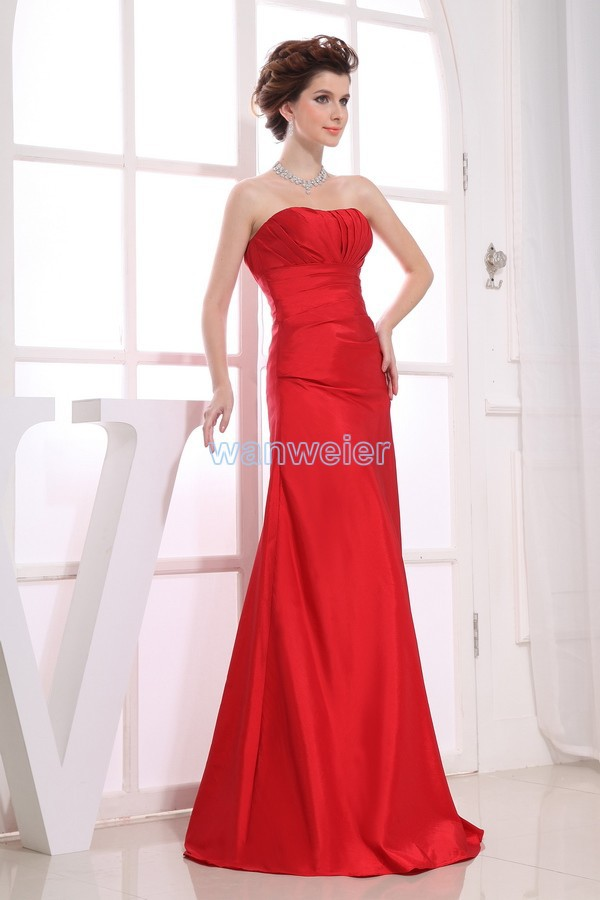 Free Shipping Vestidos Formales 2016 High Quality Designer Maid Maxi Dresses Custom Size/color Long Red Sexy Bridesmaid Dresses