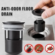 Sink-Seal Drainer Deodorant Shower-Strainer-Trap Siphon Plastic Bathroom Insect-Proof