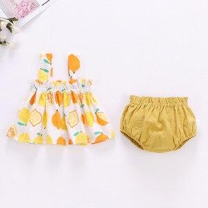 Ropa interior encantadora para niño niña, traje con falda de verano, ropa para bebé de 0 a 2 años, vestido con correa de cuadros, ropa interior, traje de niña bebé