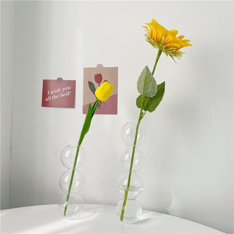 Vase en verre de décoration intérieure, Vase en cristal, plantes hydroponiques modernes, frais européens pour mariages, événements, fêtes créatives 4