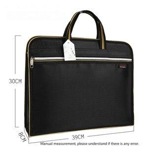 Image 2 - A4 קובץ תיקיית מקרה נייד תיק נייד אוקספורד בד גדול קיבולת משרד עסקי כנס מסמך תיק התאמה אישית