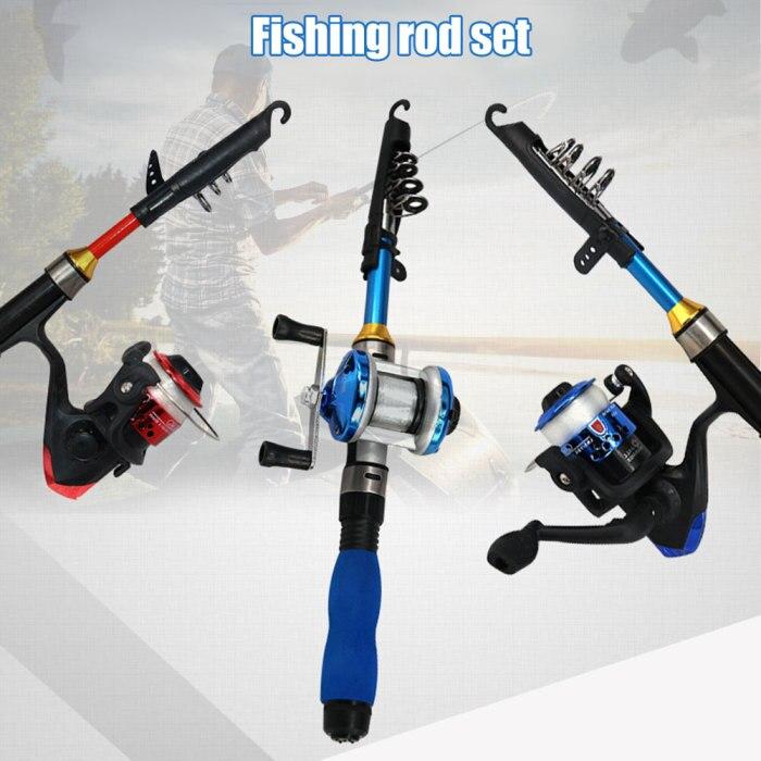 Vara de pesca pólo carretel roda kit