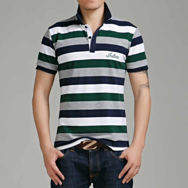 England Style Striped 2019 Brand Fashion Polo Shirts Short Sleeve Men Summer Cotton Breathable Tops Tee ASIAN SIZE M-5XL
