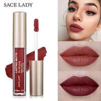 SACE LADY 23 colores líquido lápiz labial maquillaje no secado mate lápiz labial de larga duración Nude tinte de brillo labial Natural marca cosmética