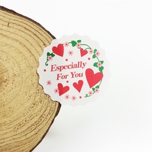 120pcs/lot lovely Especially For You Round Heart Sealer Baking Packaging Label Cookies Box Party Decoration Gift Seal