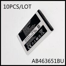Lot de 10 batteries AB463651BU, pour Samsung S5610 W559 S5620 S5630C C3200 F339 S5296 C3322 C3530 AB463651BE AB463651BU