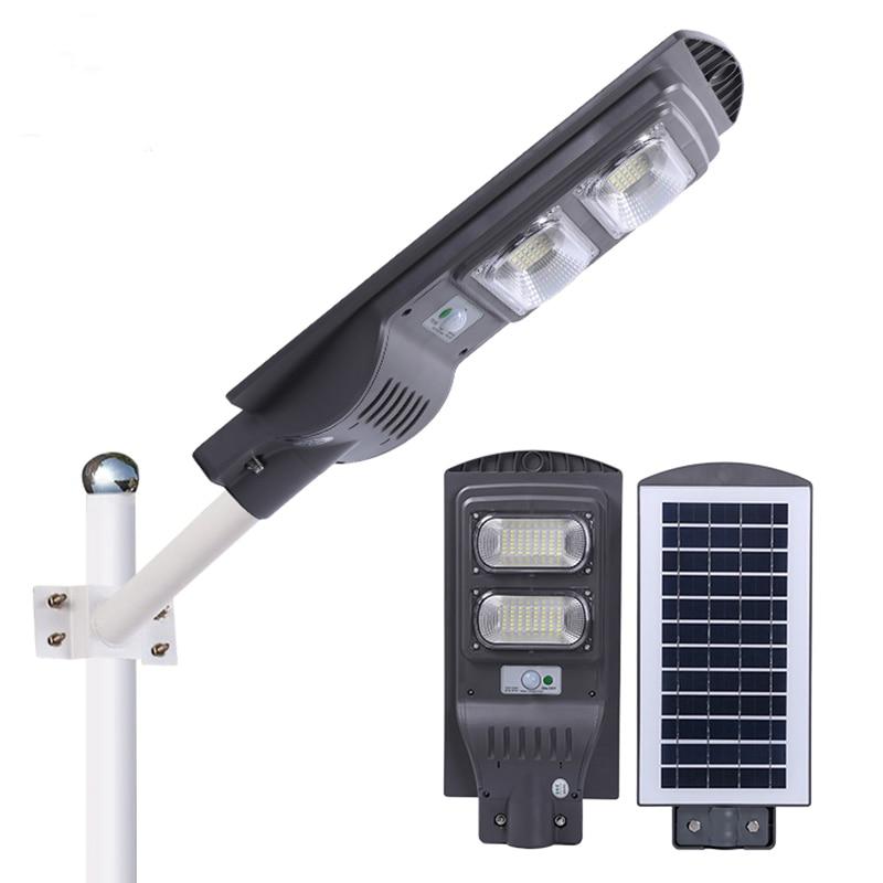 120w/240w/360w led solar lâmpada de rua luz holofote deck cerca garagem lâmpada segurança para jardim ao ar livre