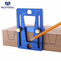 Dovetail Marker Adjustable Woodworking Dovetail Guide Template 1:7 Aluminum Alloy Dovetail Marking Gauge for Hand Cut Wood Joint