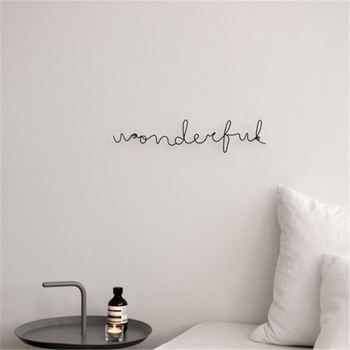 Living Room Metal Ornaments Simple Words Wall Hanging Decorative