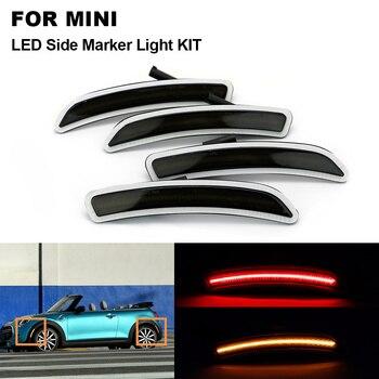 4X lente de humo frontal ámbar trasera roja luz LED de posición lateral para MINI Cooper F55 2014-2019 F56 2014-2019 F57 2014-2019 lámpara de rueda