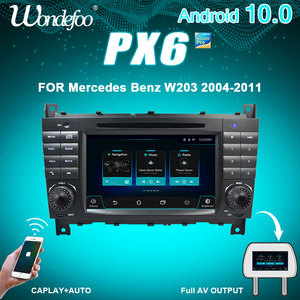 Wondefoo PX6 2 DIN Android 10 Car radio For Mercedes Benz W203 W209 W219 W169 A160 C180 C200 C230 C240 CLK200 auto audio stereo