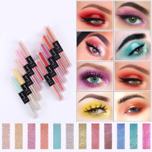 1PC 10Colors Liquid Glitter Eyeshadow Pencil Shimmer Eyeshadow Waterproof Long-lasting Shimmer Eyeshadow Eye Makeup Accessorices