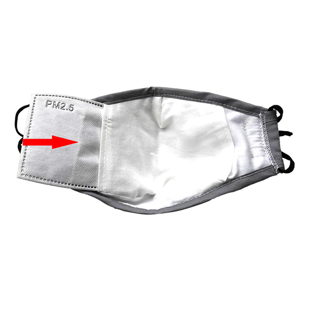 10Pcs(=5packs) Child Kids Activated Carbon Filter PM2.5 Mouth Mask Replaceable Filter-slice 5 Layers Non-woven 2