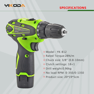 Image 3 - YIKODA 12V Cordless Drill Electric Screwdriver Rechargeable Lithium Ion Battery Parafusadeira Two speed Driver Power Tools