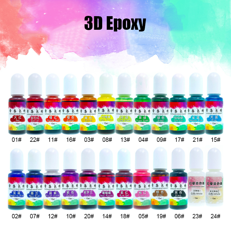 Economical Liquid Epoxy Resin Dye Highly Concentrated Epoxy Resin Colorant For DIY Jewelry Making Supplies Resin Coloring Art
