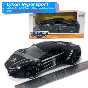 JADA 1/24 Scale Hollywood Rides Car Model LYKAN HYPERSPORT Black Panther Diecast Metal Toy For Collection,Gift,Kids