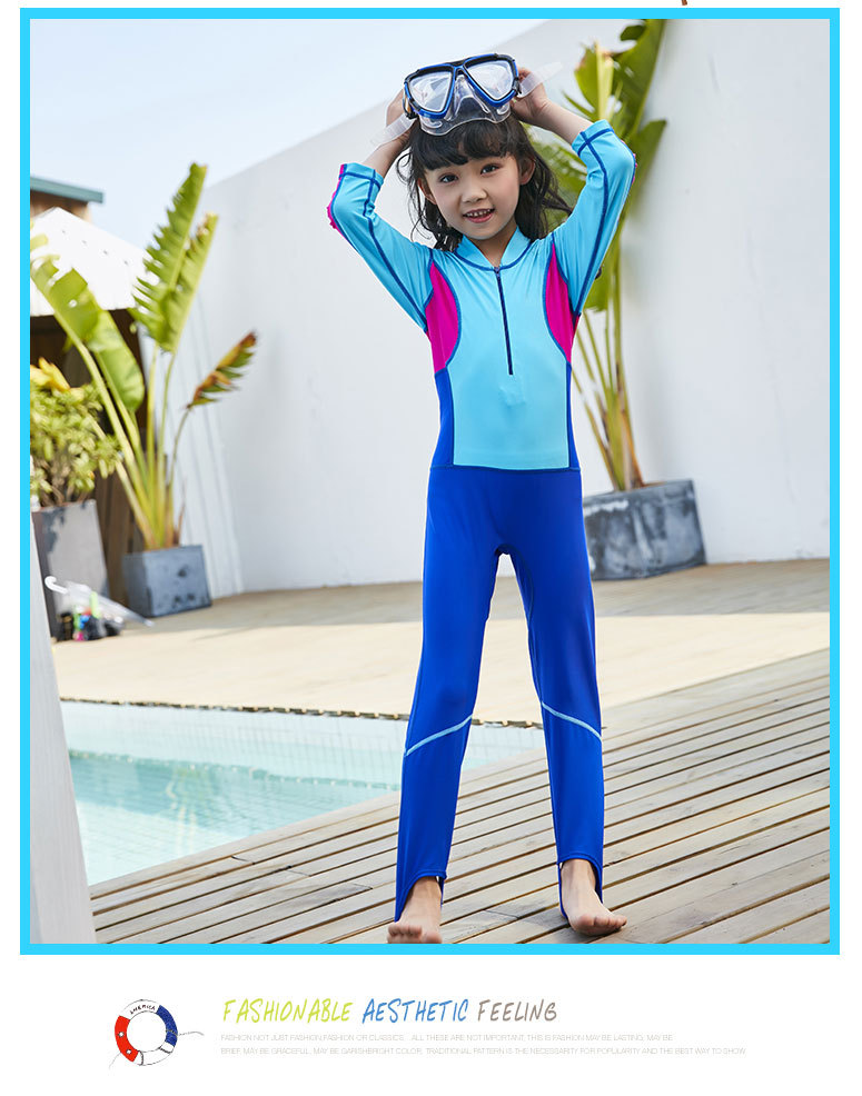2018 Zhuo Lang New Style One-piece Swimsuit For Children, Learn Swimming Of High Elastic Swimming Suit