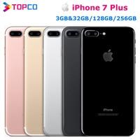 Apple-teléfono inteligente iPhone 7 Plus, móvil Original de fábrica, 4G, LTE, 5,5 pulgadas, Dual Core, A10, 12.0mp, 3GB de RAM, 128GB de ROM, NFC
