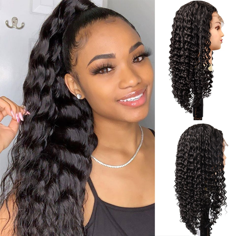 13x6 Lace Front Human Hair Wigs Pre Plucked For Women Malaysian Deep Wave 13×6 Lace Frontal Wig With Baby Hair Remy Hair