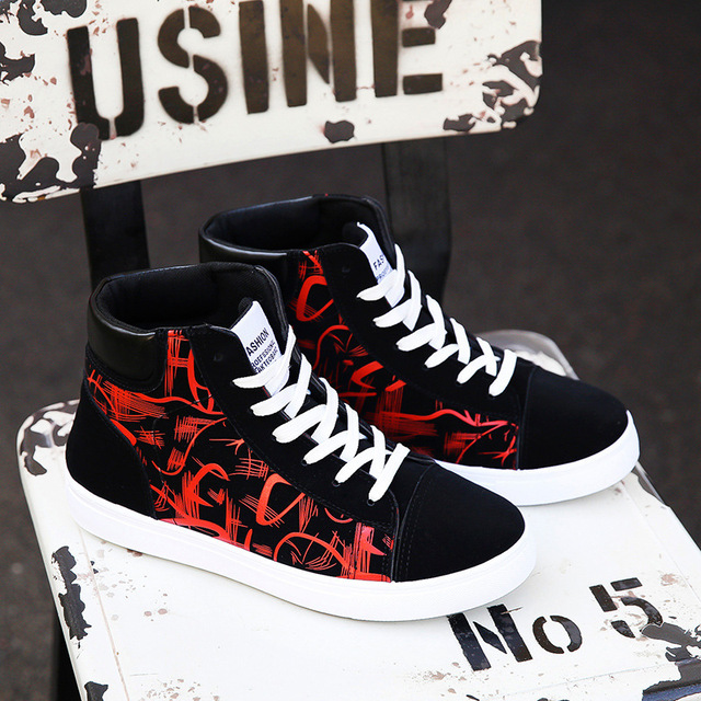 Shoes New Men Casual Shoes High Top Sneakers Men Vulcanized Shoes Platform Sneakers Quality Men's Sneakers Masculinas2019