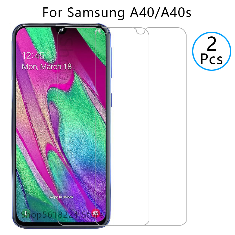 protective <font><b>glass</b></font> for <font><b>samsung</b></font> a40 a40s tempered glas screen protector on galaxy <font><b>a</b></font> <font><b>40</b></font> s 40s 40a film sansung samsun samsumg galaxi image