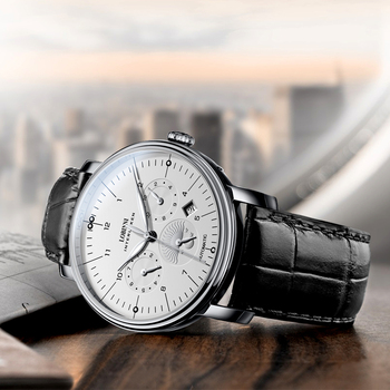 Luxury Brand Switzerland LOBINNI Men Watches Perpetual Calender Auto Mechanical Men's Clock Sapphire Leather relogio L15008-9 3