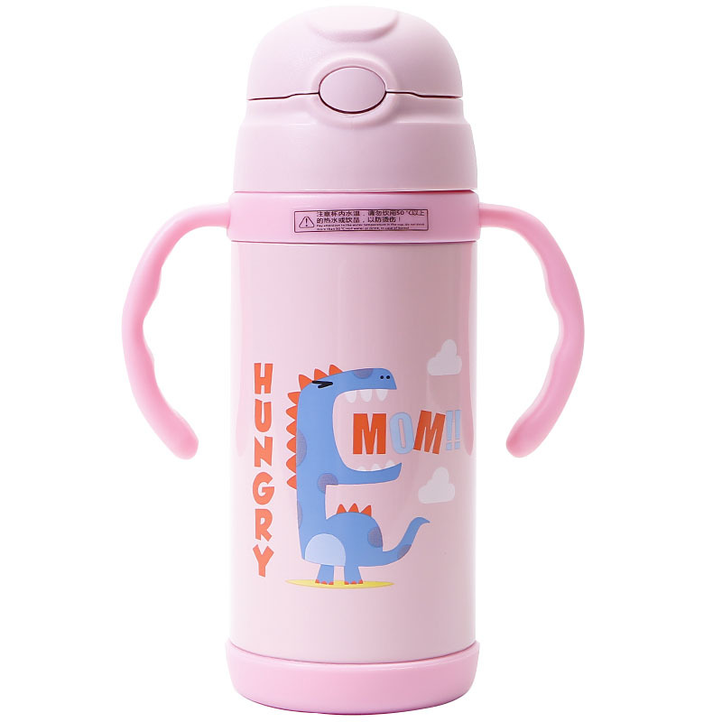 Dinosaur Thermos Bottle 350ml Stainless Steel Thermos Cup with Handle for Kids Child Vacuum Flask Water Mug Thermos Bottles in Vacuum Flasks Thermoses from Home Garden