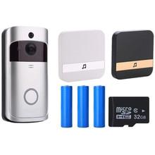 V5 дверной звонок умный IP wifi видео домофон Wi-Fi дверной Звонок камера для квартиры ИК сигнализация беспроводная камера безопасности
