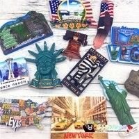 세계 관광 기념품 기념 Hollywoon 뉴욕 워싱턴 풍경 마그네틱 스티커 냉장고 스티커 홈 인테리어