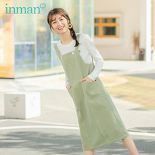 INMAN 2020 Spring New Arrival Pocket Decoration Women Dress