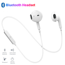 цена на 2020 New Wireless Bluetooth 4.1 Headphone Noise Cancelling Headphone Fashion Neckband Sports Stereo In-Ear Microphone