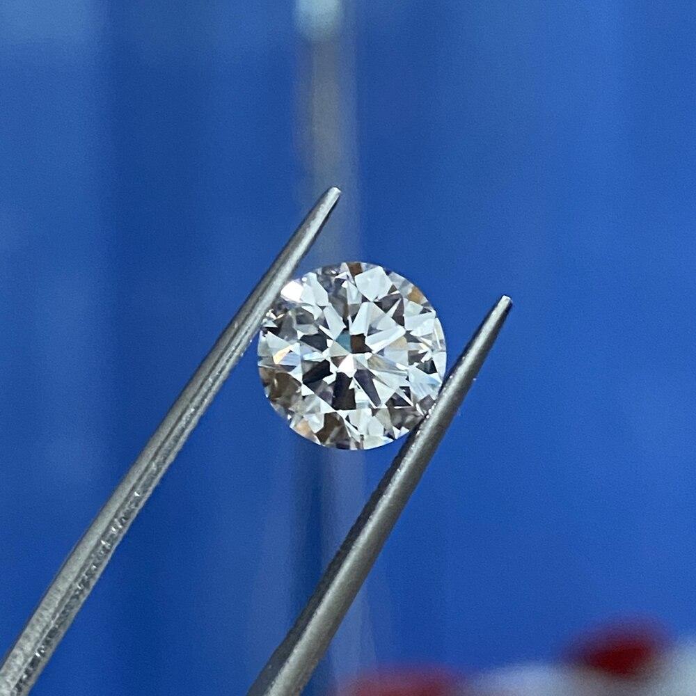 Pierre gemme en vrac synthétique cultivée en laboratoire très bonne qualité excellente coupe 6.5mm D VS 1 Carat CVD HPHT diamant pour bague 3