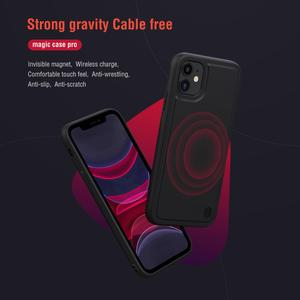 Image 2 - For iPhone 11 pro max Case Cover NILLKIN magic case pro matte hard soft back cover Mobile phone black shell For iPhone 11 pro