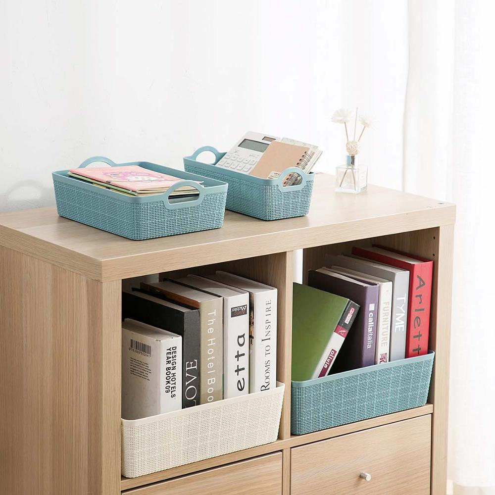 Plastic Desktop Storage Basket Kitchen Cabinet Storage Box Bathroom Cosmetics Storage Box Toy Snack Fruit Basket